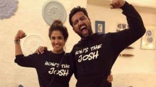 Vicky Kaushal And Rumoured Girlfriend Harleen Sethi Twin in 'How's The Josh' Sweatshirts at Uri: The Surgical Strike Success Party, See Picture