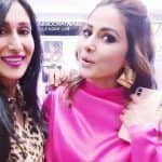 Hina Khan And Karanvir Bohra's Wife Teejay Sidhu Cannot Keep Calm as They Bump Into Each Other at Dabboo Ratnani 2019 Calendar Launch, See Picture