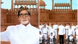 VIDEO: अमिताभ बच्चन ने दिव्यांग बच्चों के साथ गाया राष्ट्रगान, लोगों ने दिए ये रिएक्शन