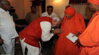 प्रसिद्ध महंत शिवकुमार स्वामी का निधन, पीएम मोदी से लेकर राहुल गांधी तक सब छूते थे चरण