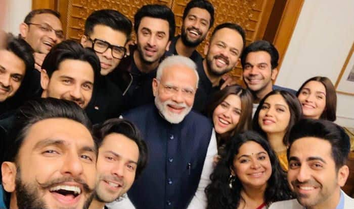 pm modi selfie with bollywood stars main