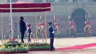 Republic Day 2019: South Africa President Cyril Ramaphosa Accorded 'Guard of Honour' at Rashtrapati Bhavan; Chief Guest Pays Floral Tribute to Mahatma Gandhi