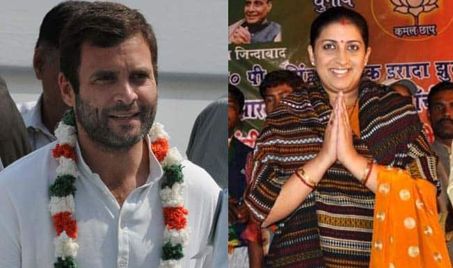 Amethi to Turn Into Political Arena as Rahul Gandhi, Smriti Irani Lock Horns in Congress Bastion Today
