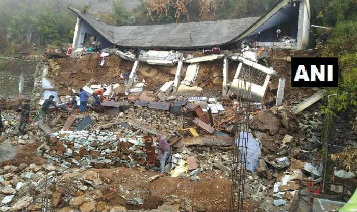 Uttarakhand: Saraswati Shishu Mandir Building Collapses Following Heavy Rains; School Was Closed For Day