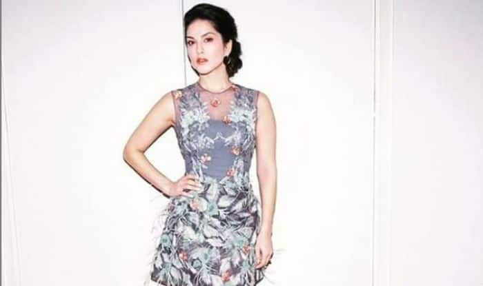 Sunny Leone Looks Hot in a Grey Netted Floral Dress, Flaunts Her Beauty in Latest Picture, See Here