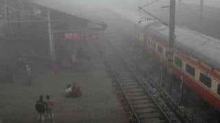 Fog Envelops Delhi; 18 Trains Running Late Due to Low Visibility