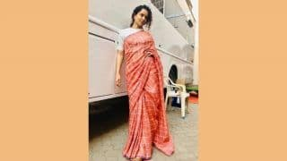 Kangana Ranaut Once Again Nails The Ethnic Look in Stunning Peach Saree, White Blouse And Jutis, See Picture