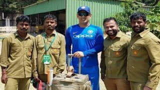 MS Dhoni Wins Hearts Ahead of 2nd T20I Against Australia, Meets MA Chinnaswamy Ground Staff | SEE PICS