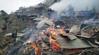 Himachal Pradesh: 10 Houses Gutted in Fire in Kullu Distrcit; no Road Connectivity For Fire Tenders