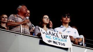 India vs New Zealand 2nd T20I: #MeToo Posters Directed at Blackcaps's Rape Acussed Scott Kuggeleijn at Eden Park