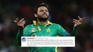 'Educated People Don't Behave in Such Manner,' Shahid Afridi on Broadcaster's Mid-Season Pull Out After Pulwama Attack, Indo-Pak World Cup Tie