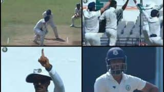 Irani Cup 2019: Vidarbha Captain Faiz Fazal Gets Dismissed by Rest Of India's Gowtham, Umpire Takes Long Before Raising Finger | WATCH VIDEO