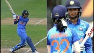 India Women vs New Zealand Women: Smriti Mandhana Creates Record, Registers Fastest Fifty For India in WT20Is Also Equals Harmanpreet Kaur | WATCH