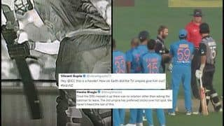 India vs New Zealand 2nd T20I: Krunal Pandya Gets Lucky as Third Umpires Messes up DRS, Twitter Blasts Poor Umpiring at Auckland