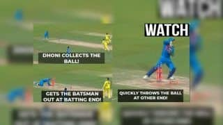 MS Dhoni Runs D'Arcy Short, Peter Handscomb of 1 Ball at Vizag During 1st T20I | WATCH VIDEO