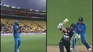 India vs New Zealand 1st T20I: Vijay Shankar Grabs a Skier to Dismiss Colin Munro Off Krunal Pandya's Bowling | WATCH VIDEO