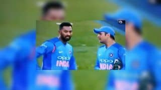 1st T20I India vs New Zealand: MS Dhoni Conducts On-Field Coaching, Inspires Krunal Pandya To Dismiss Colin Munro – WATCH VIDEO