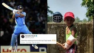 MS Dhoni in The Making! Danielle Wyatt to Tino Best Awestruck After 4-Year-Old Showcases Batting Skills | WATCH VIDEO