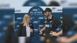 New Zealand Batsman Martin Guptill Interviewed by Wife Laura McGoldrick After Match-Winning Ton Against Bangladesh in 1st ODI | WATCH VIDEO