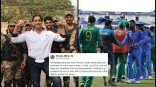 Pulwama Attacks: I Didn't Make Any Statement on Indian Team Playing Against Pakistan in World Cup 2019, Claims Shoaib Akhtar