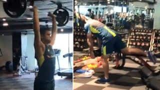 Getting in Groove! Oz Players Sweat it Out in Gym Ahead of India Series   WATCH