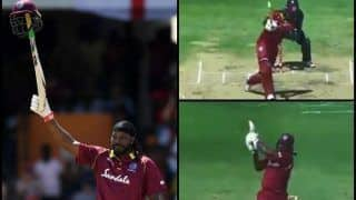 Windies vs England 1st ODI: Chris Gayle Smashes 24th ODI Century, Hits Record 13 Sixes as Joe Root, Jason Roy Neutralize it | WATCH VIDEO