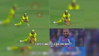 India vs Australia 2019: Marcus Stoinis Takes a Good Low Catch to Dismiss Shikhar Dhawan During 2nd T20I at Chinnaswamy | WATCH VIDEO