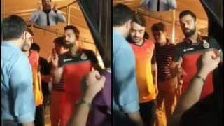 Royal Challengers Bangalore's Virat Kohli Catches up With Sunrisers Hyderabad's Rashid Khan During IPL 2019 Shoot | WATCH VIDEO