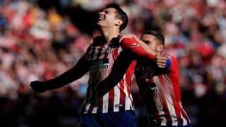Alvaro Morata Nets First Goal For Atletico Madrid in 2-0 Win | WATCH