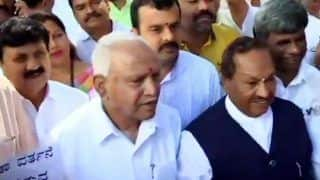 Karnataka: Stones Pelted at BJP MLA's Home Over Controversial Audio Clip, Yeddyurappa Takes Delegation to Meet Governor