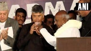 N Chandrababu Naidu's Hunger Strike News Updates: CM Ends Fast With Water Offered by Former PM Deve Gowda