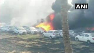 Chennai: Over 214 Cars Gutted in Fire at Parking Lot Near Sri Ramachandra Medical College; 10 Fire Tenders at Spot
