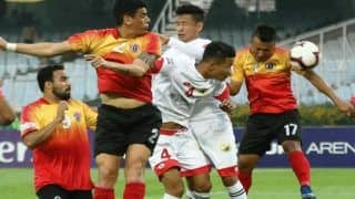 I-League 2018-19: Landanmawia Ralte Scores a Hat-Trick as East Bengal Pump in Five Past Shillong Lajong FC For Fourth Successive Win
