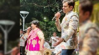 Akash Ambani Pre-Wedding Festivities at Antilla Has Falguni Pathak And Tushar Trivedi Entertaining Guests