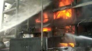 Major Fire Breaks Out at Oil Factory in Maharashtra's Raigad; 12 Fire Tenders at Spot