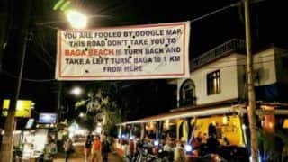 Goa Banner Warning Tourists About The Right Route to Baga Beach Goes Viral - Check Tweets