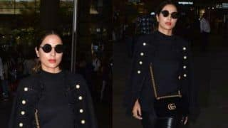 Hina Khan Looks Super Hot in All Black Casual Wear as She Reveals Her Latest Airport Look, See Her Latest Picture