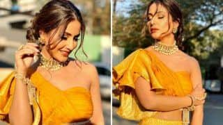 Hina Khan Looks Sizzling Hot in Sexy Yellow Outfit as She Flaunts Her Washboard Abs in Her Latest Sun-kissed Pictures