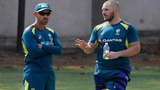 India vs Australia 1st ODI: Coach Justin Langer Backs Struggling Aaron Finch to Come Good in Upcoming Series, Puts Glenn Maxwell's Elevation Request On Hold