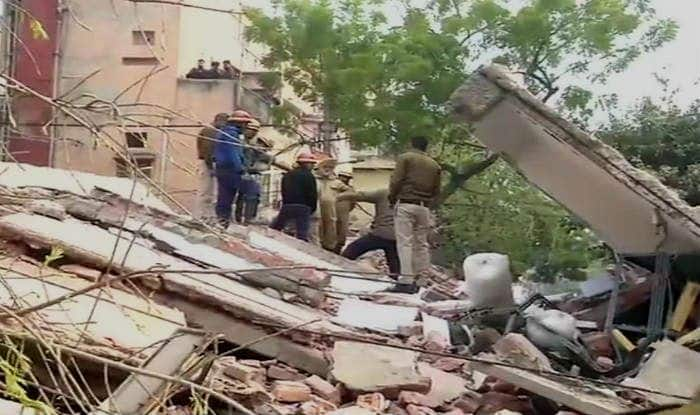 Delhi: Four-storey Building Collapses at Karol Bagh's Padma Singh Road; No Casualties Reported
