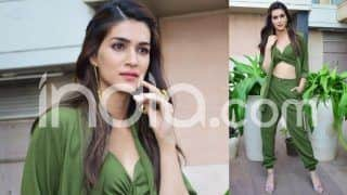 Kriti Sanon Keeps it Green And Stylish While Promoting Her Upcoming Film Luka Chuppi, See Pictures