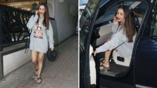Malaika Arora Mercilessly Trolled And Age-shamed For Wearing Over-sized Grey Sweatshirt - Check Comments