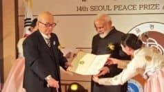 PM Narendra Modi Gets Seoul Peace Prize, Dedicates it to People of India