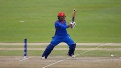 1st T20I: Nabi's Fifty Guides Afghanistan to Five-Wicket Win Over Ireland