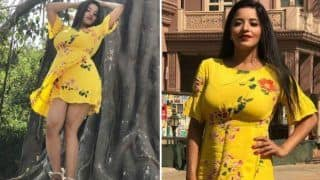 Bhojpuri Hot Bomb And Nazar Fame Monalisa Ditches Her Daayan Avatar, Looks Super Sexy in Floral Yellow Short Dress And Bold Lips - Have a Look