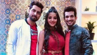 Bhojpuri Bombshell Monalisa Looks Hot And Sexy in Red Gown as She Poses With Arjun Bijlani, Deepika Singh Goyal And Hubby Vikrant Singh Rajpoot
