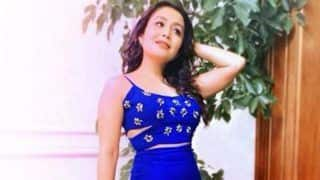 Singing Sensation Neha Kakkar Looks Smoking Hot in Blue Crop Top And Thigh-high Slit Skirt in Her Latest Instagram Picture