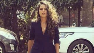 TV Hottie Nia Sharma Looks Sexy in Blue Pantsuit And Curly Hair in Her Latest Instagram Pictures