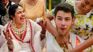 Priyanka Chopra Laughs Uncontrollably as Nick Jonas Gets Slathered With Haldi in These Unseen Pictures