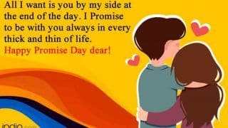 Happy Promise Day 2021: Top Wishes, Quotes, Messages, Whatsapp Status And Greetings For Your Dearest